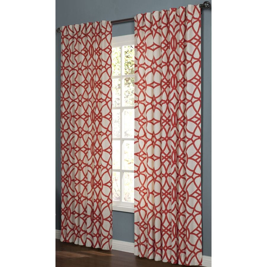 allen + roth Oberlin 95-in Paprika Cotton Back Tab Light Filtering Single Curtain Panel