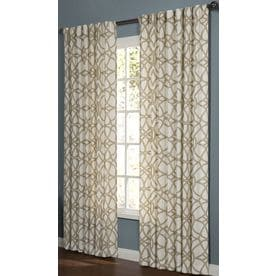 Perfect Allen + Roth Oberlin 95 In Straw Cotton Back Tab Light Filtering Single  Curtain Panel Intended For Allen Roth Curtains