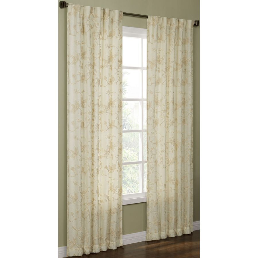 allen + roth Elmbridge 95-in Polyester Back Tab Light Filtering Single Curtain Panel