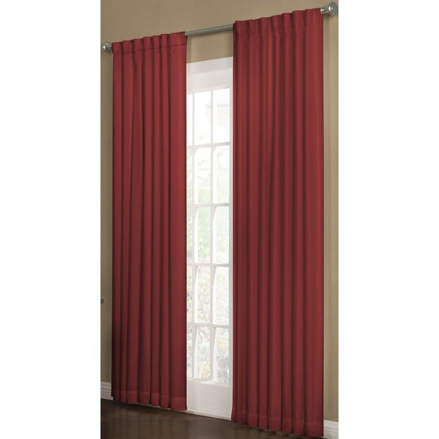 allen + roth Beeston 63-in Polyester Back Tab Room Darkening Interlined Single Curtain Panel