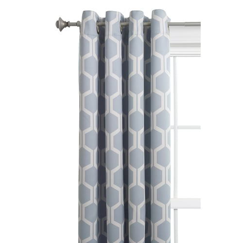 Style Selections Quinn 84 In Grey Snow Polyester Room