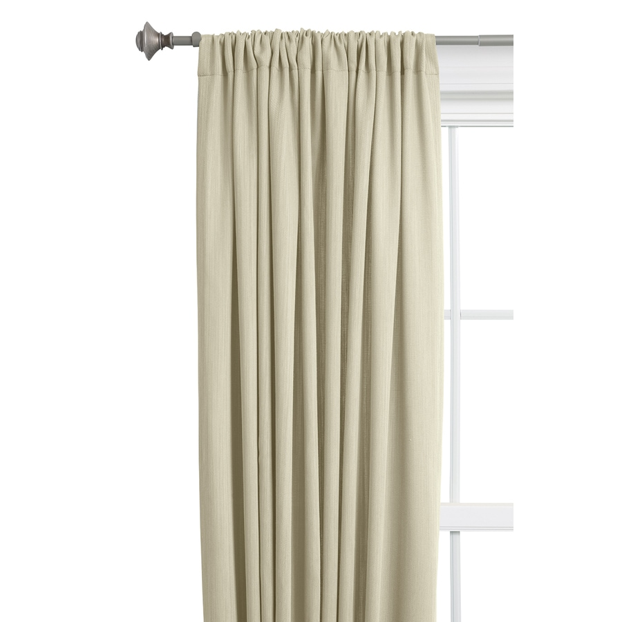 Style Selections Treyor 84-in Ivory Cotton Rod Pocket Light Filtering Single Curtain Panel