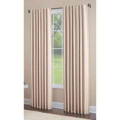 Glenellen 84-in Sand Polyester Light Filtering Standard Lined Single  Curtain Panel