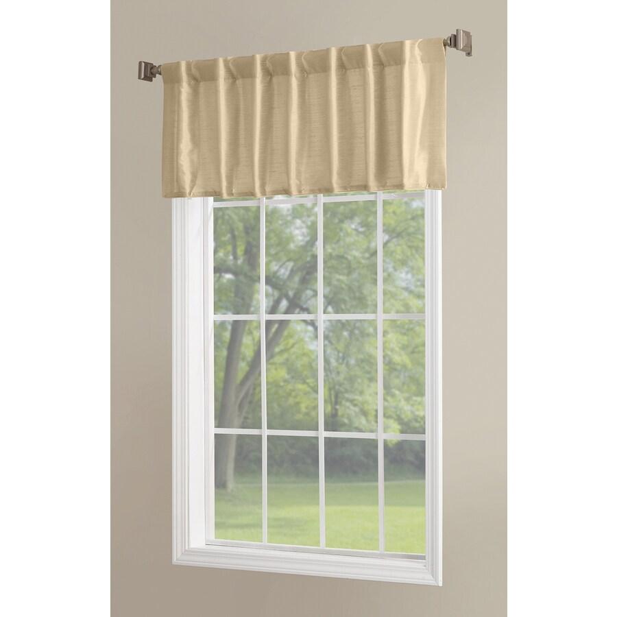 allen + roth Glenellen 18-in Gold Polyester Back Tab Light Filtering Single Curtain Panel