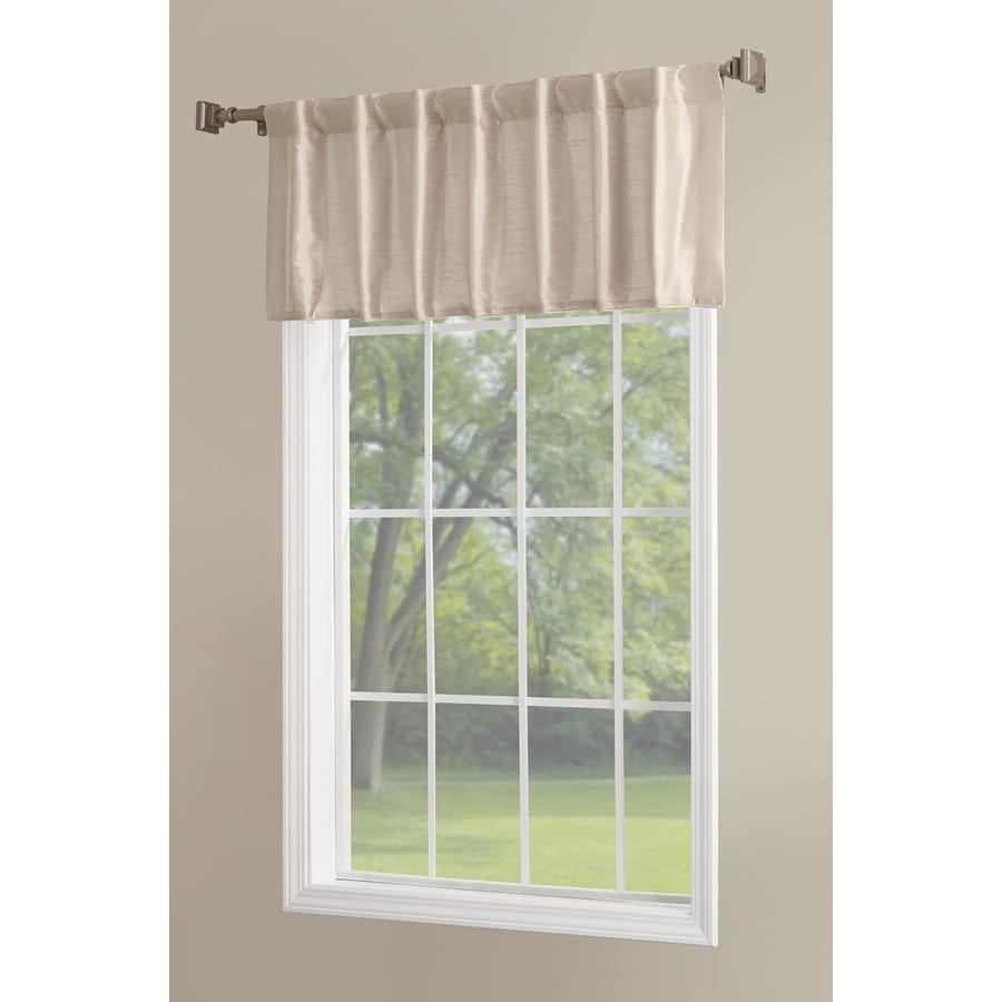 allen + roth Glenellen 18-in Sand Polyester Back Tab Light Filtering Single Curtain Panel