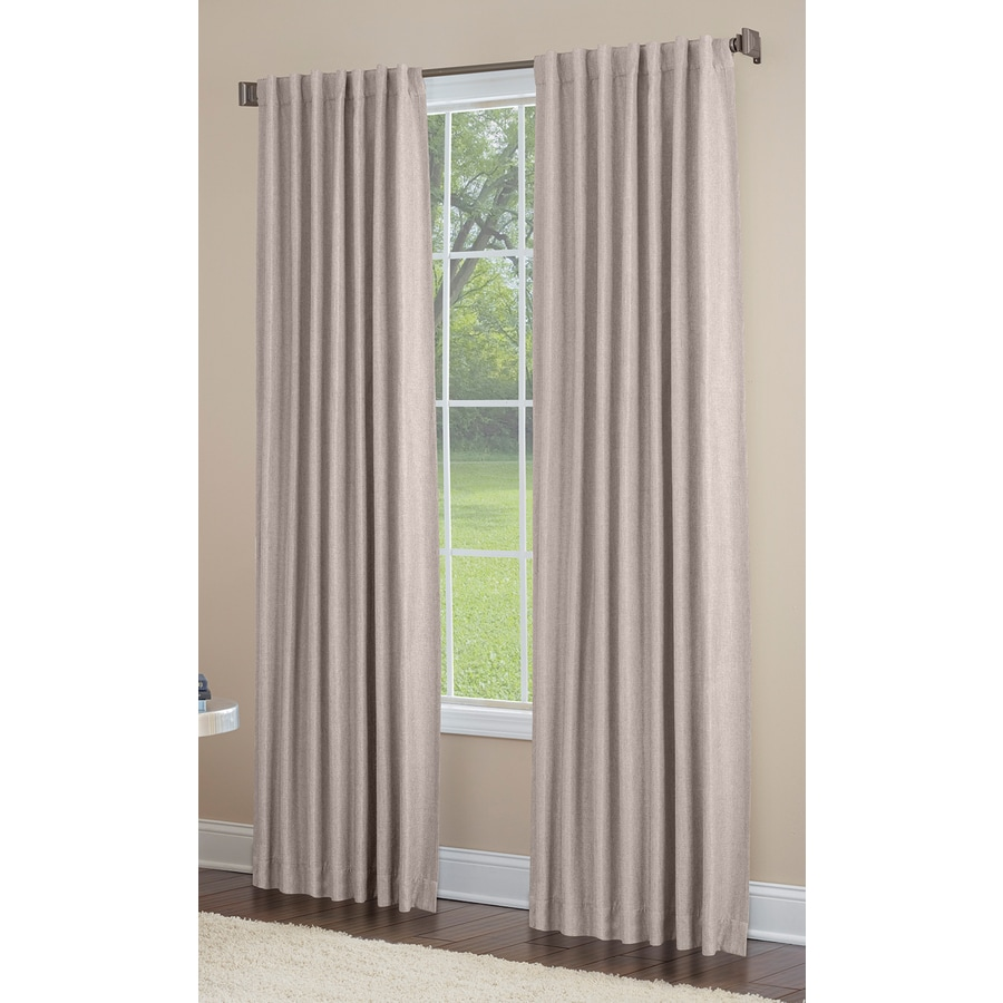 allen + roth Gatton 63-in Linen Polyester Back Tab Room Darkening Thermal Lined Single Curtain Panel