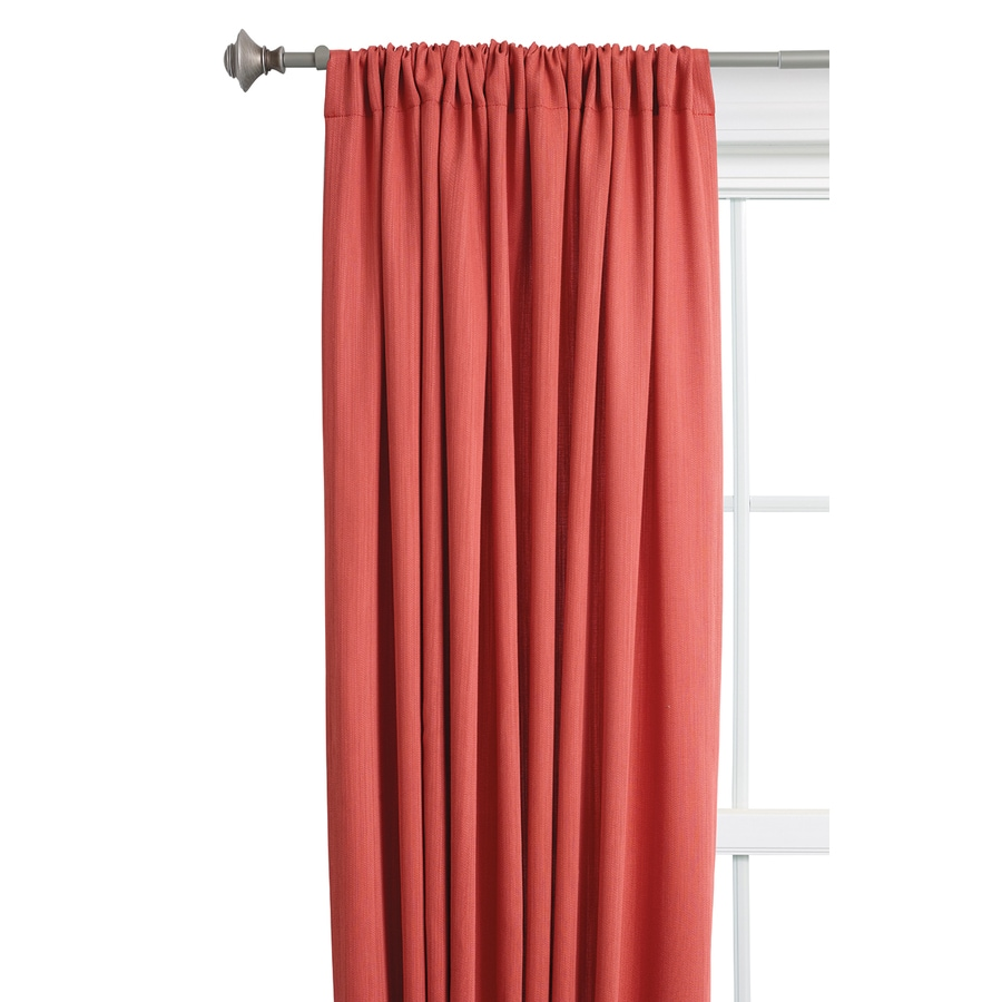 Style Selections Treyor 63-in Red Polyester Rod Pocket Light Filtering Single Curtain Panel
