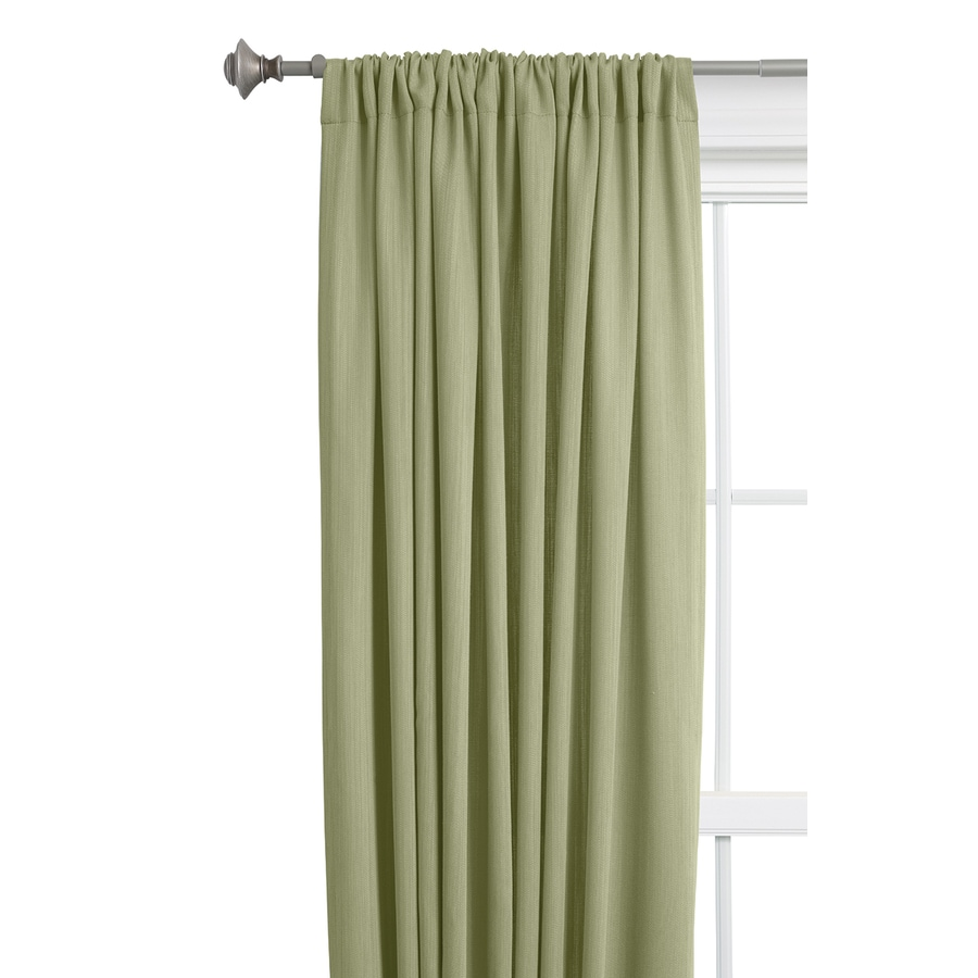 Style Selections Treyor 63-in Sage Polyester Rod Pocket Light Filtering Single Curtain Panel
