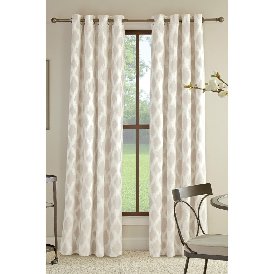 Allen + Roth Bookner 84 In Neutral Cotton Grommet Light Filtering Single  Curtain Panel  Allen Roth Curtains