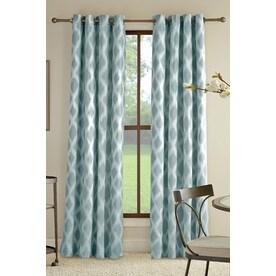 Great Allen + Roth Bookner Cotton Grommet Light Filtering Single Curtain Panel