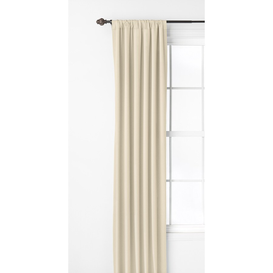 Style Selections Kalesh 95-in Ivory Polyester Rod Pocket Room Darkening Single Curtain Panel