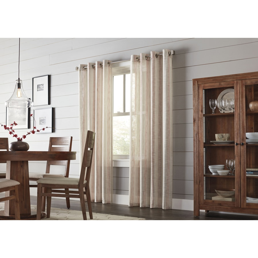 allen + roth Timblin 63-in Amber Polyester Grommet Light Filtering Single Curtain Panel