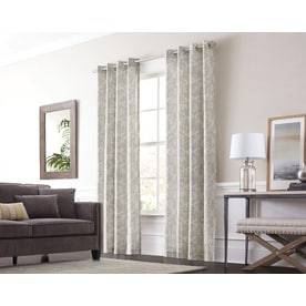Allen Roth Lar 84 In Graphite Cotton Grommet Light Filtering Single Curtain Panel