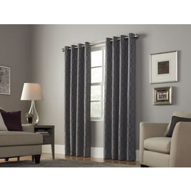 Allen Roth Keldgate Polyester Grommet Light Filtering Single Curtain Panel