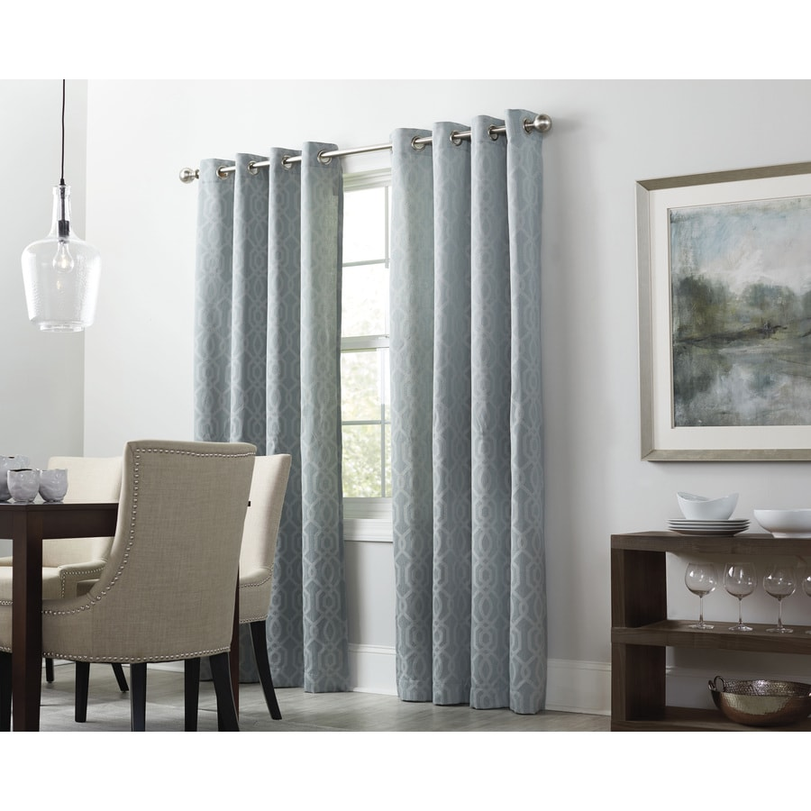 allen + roth Keldgate 84-in Haze Polyester Grommet Light Filtering Single Curtain Panel