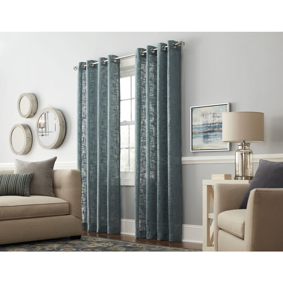 allen + roth Amesmore 95-in Mineral Polyester Grommet Light Filtering Single Curtain Panel