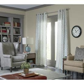 Allen + Roth Wrenbury 84 In Mineral Polyester Grommet Light Filtering  Single Curtain Panel