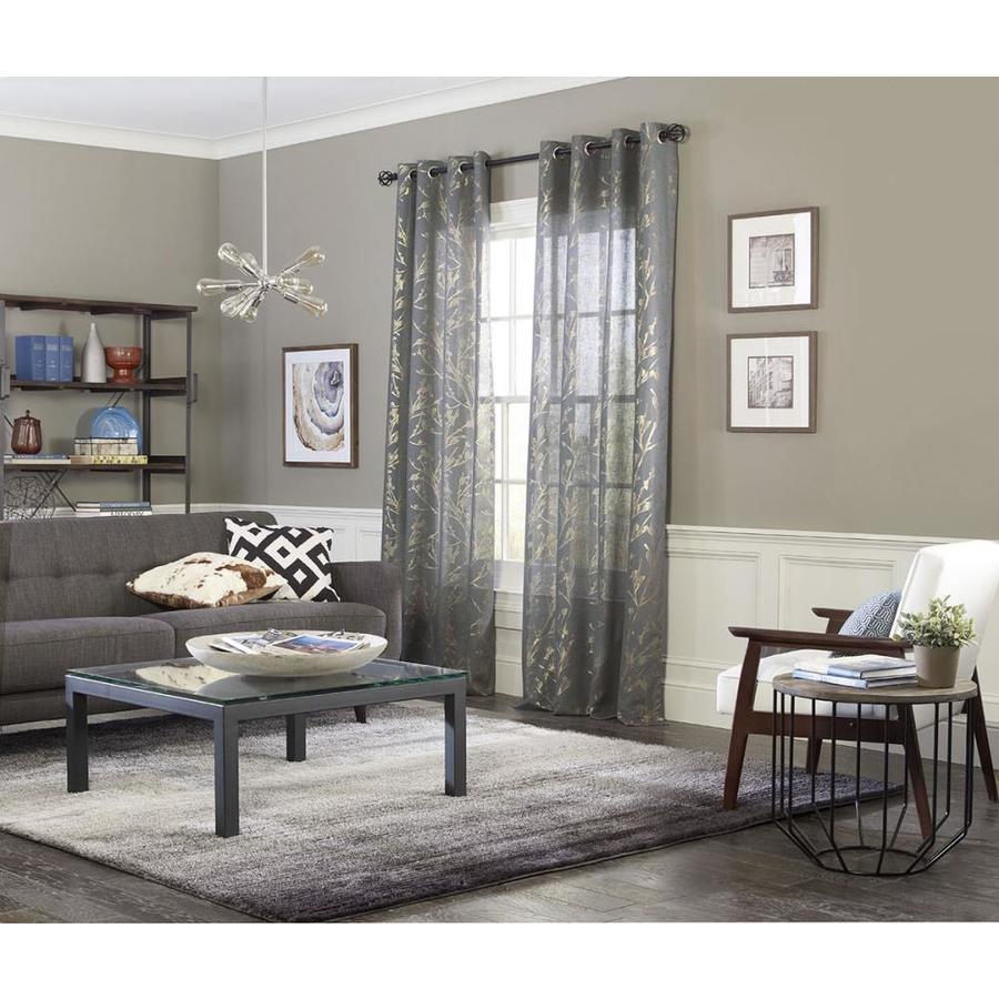 allen + roth Quinta 84-in Denim Polyester Grommet Semi-Sheer Single Curtain Panel