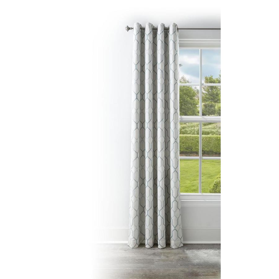 Style selections amhurst 84 in kale polyester grommet blackout thermal lined single curtain panel