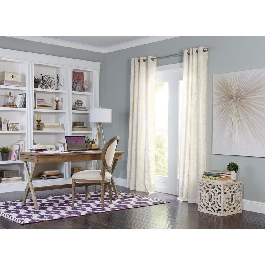 allen + roth Quinta 95-in Linen Polyester Grommet Semi-Sheer Single Curtain Panel