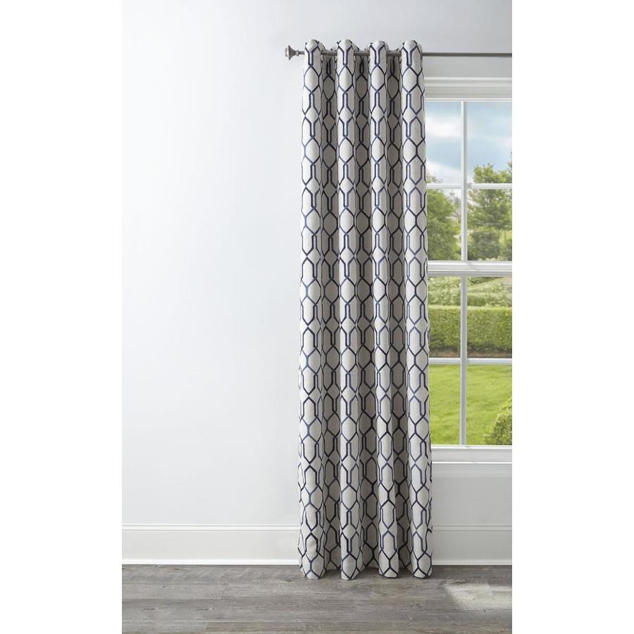 Style Selections Amhurst 95-in Admiral Polyester Grommet Blackout Thermal Lined Single Curtain Panel
