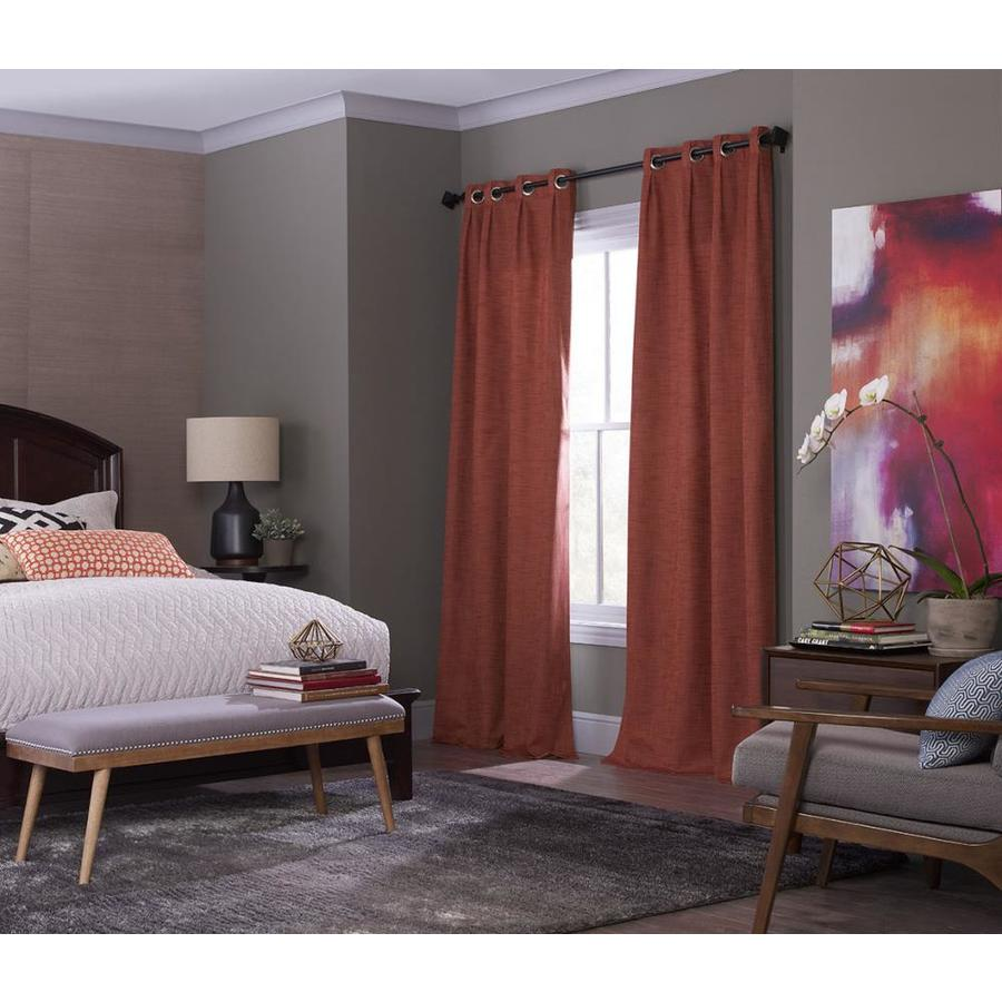 allen + roth Winbourne 63-in Spice Polyester Grommet Room Darkening Thermal Lined Single Curtain Panel