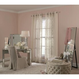allen + roth Revival 84-in Rose Polyester Light Filtering Single Curtain Panel