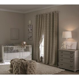 allen + roth Cecile 84-in Tan Polyester Room Darkening Thermal Lined Single Curtain Panel