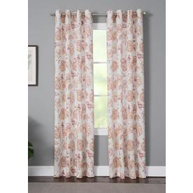 LIVING LOGIC LL Shara 50-in x 95-in Spice 95-in Spice Polyester Grommet Light Filtering Single Curtain Panel