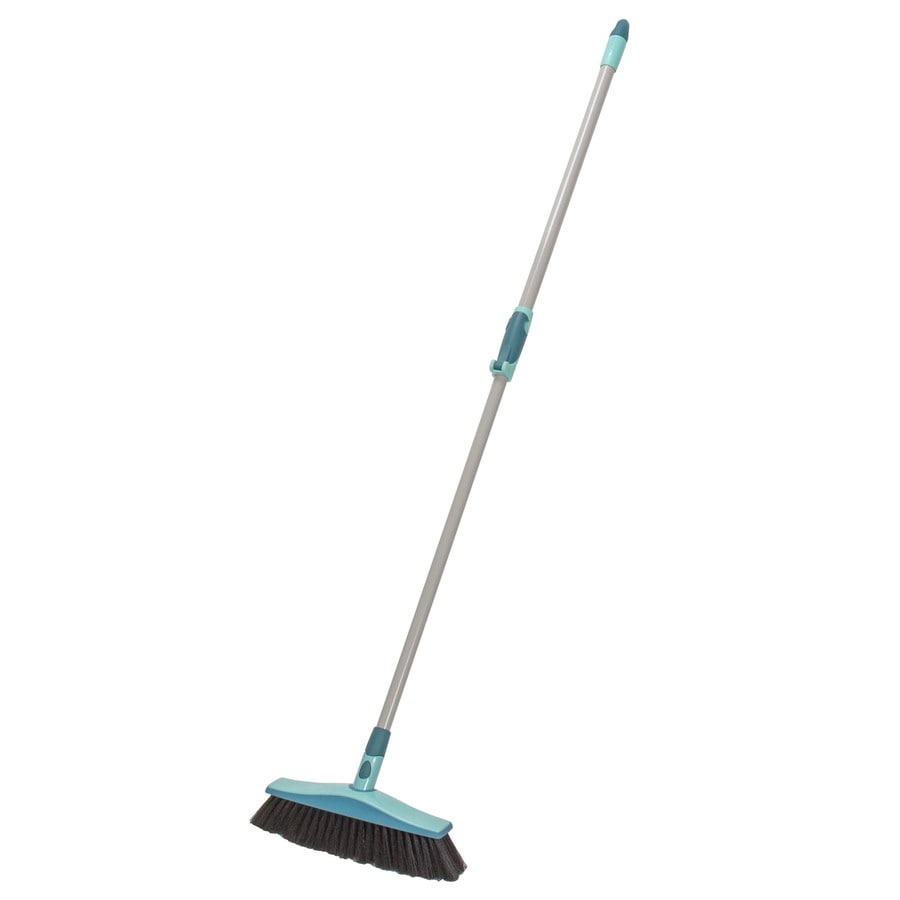 Leifheit 11.8-in Poly Fiber Stiff Upright Broom