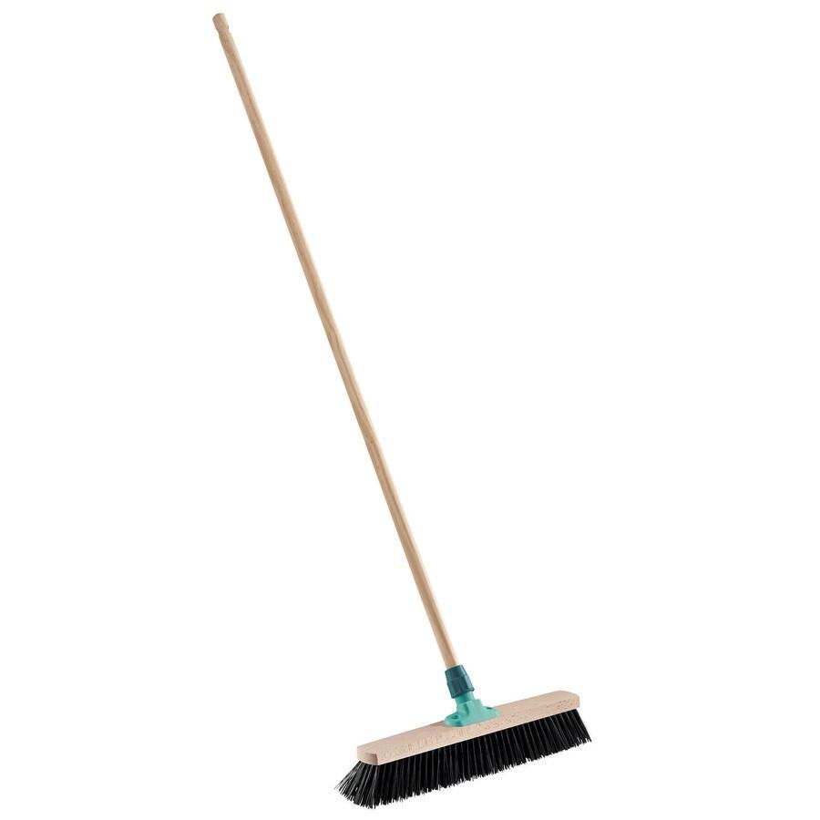 Leifheit 19.7-in Poly Fiber Stiff Push Broom