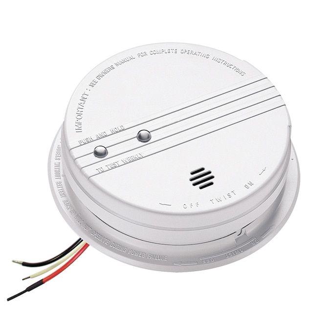 Kidde Ac Hard Wired Photoelectric Smoke Alarm With 9v Battery