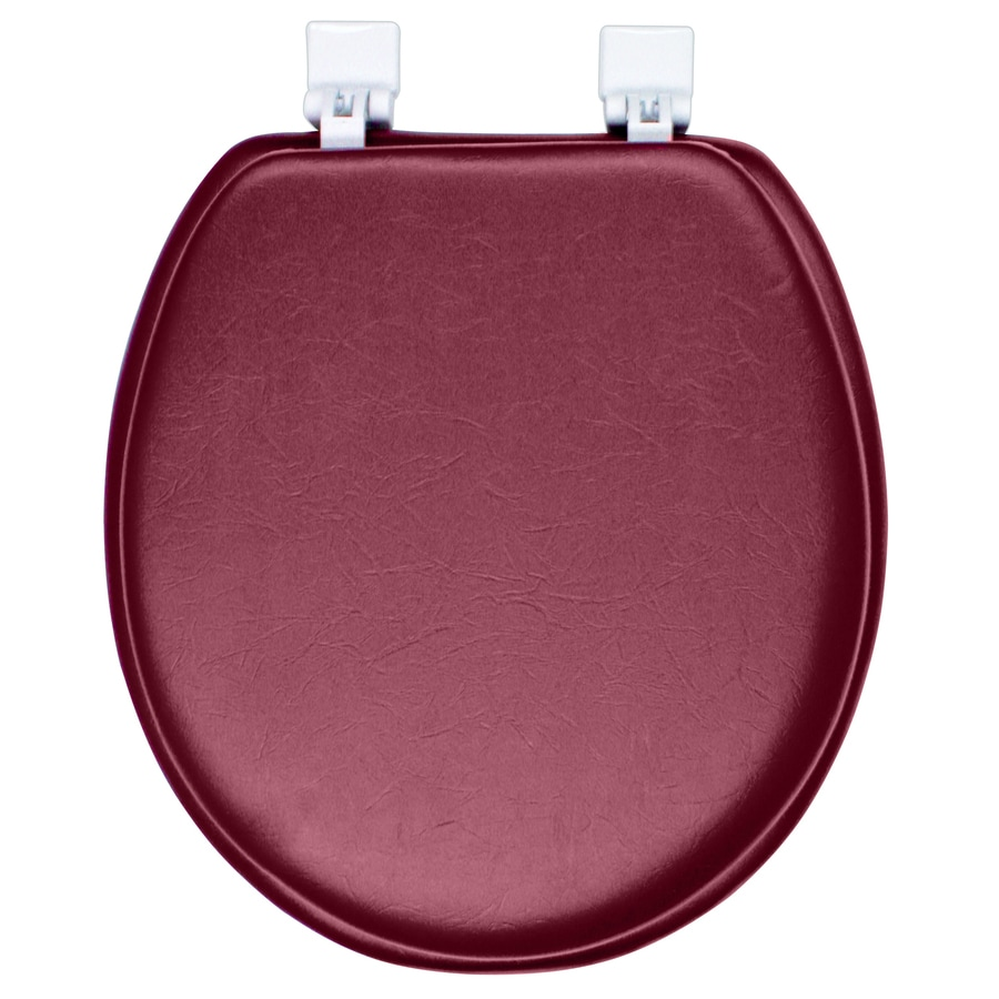 Classique Merlot Red Merlot Red Cushioned Vinyl Round Toilet Seat