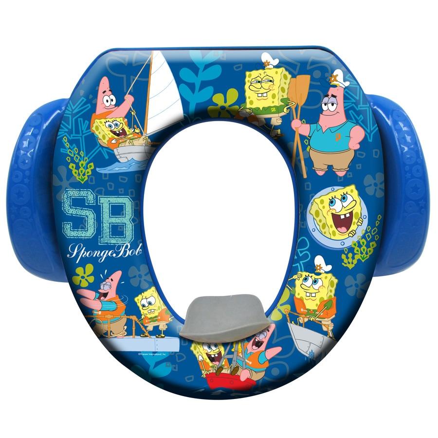 Nickelodeon Spongebob Sailing Cushioned Vinyl Round Toilet Seat At