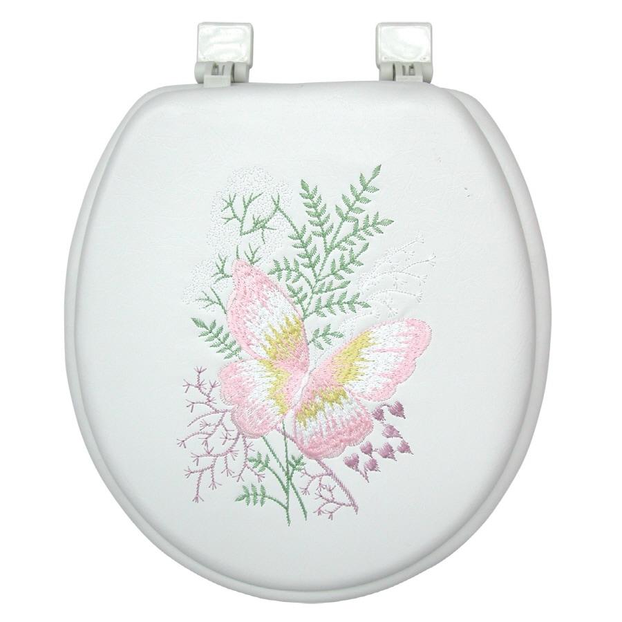 Classique Springtime Cushioned Vinyl Round Toilet Seat