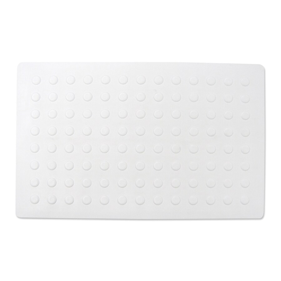 Project Source 22-in x 14-in White Rubber Bath Mat