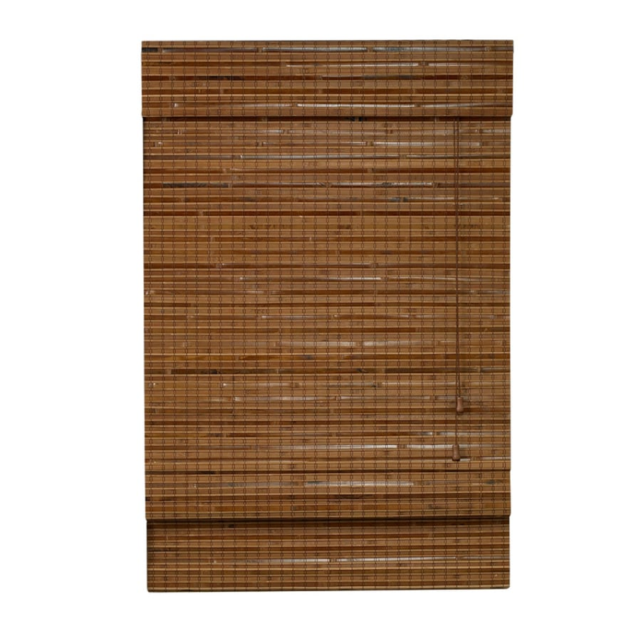 Style Selections Pecan Light Filtering Bamboo Natural Roman Shade (Common 23-in; Actual: 22.5-in x 72-in)