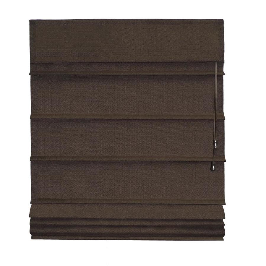 Radiance Chocolate Blackout Polyester Fabric Roman Shade (Common 31-in; Actual: 31-in x 72-in)