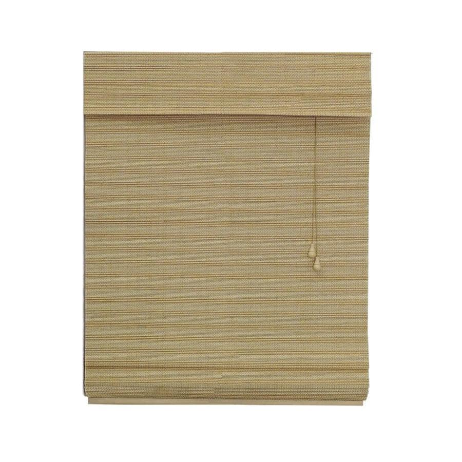 Radiance Wheat Light Filtering Bamboo Natural Roman Shade (Common 71-in; Actual: 71-in x 64-in)