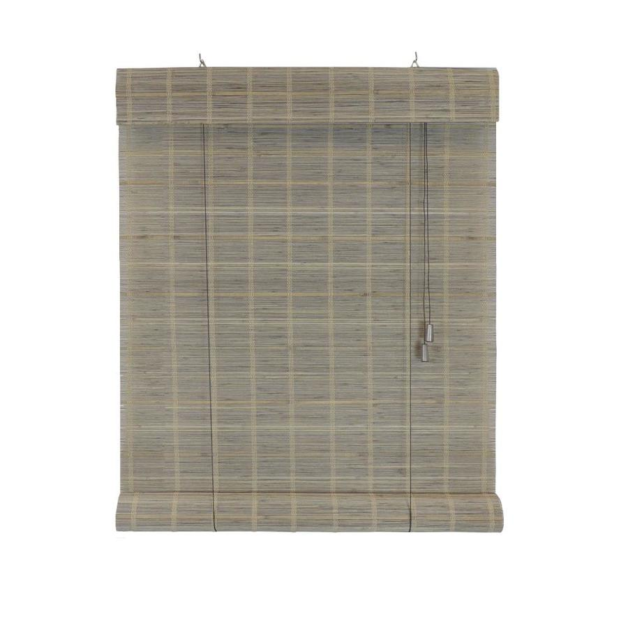 Radiance Warm Gray Light Filtering Bamboo Roller Shade (Common: 30 In;  Actual