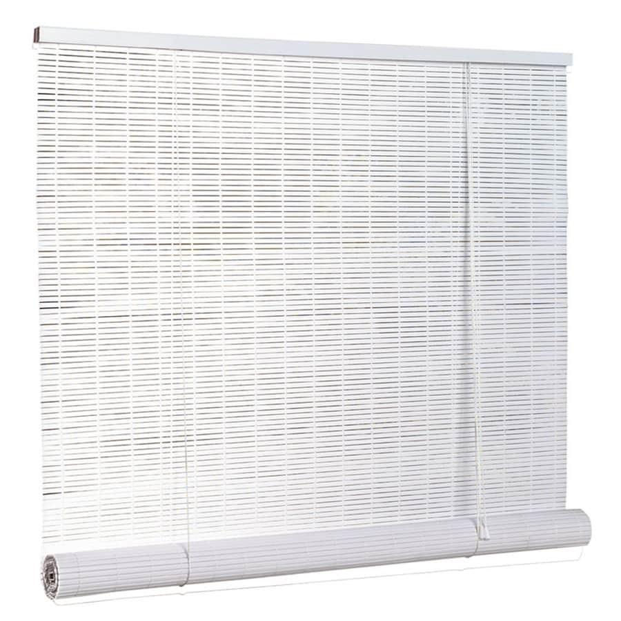 Style Selections White Vinyl 025 In Slat Light Filtering Door