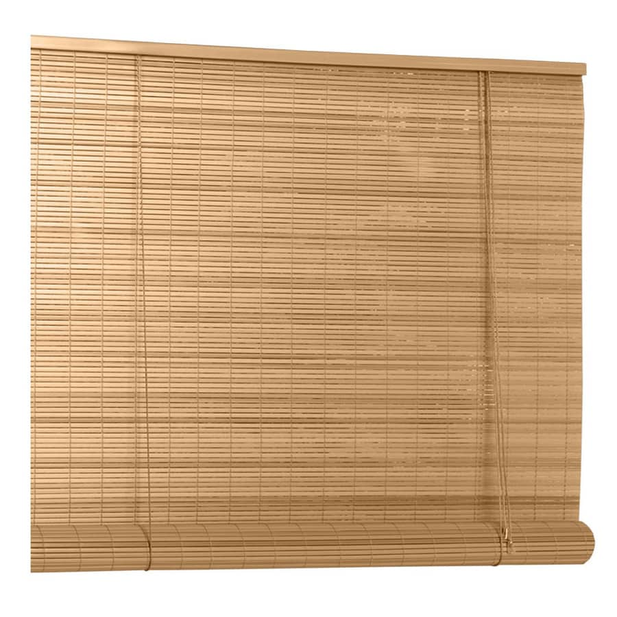 Style Selections 0 25 In Wood Grain Vinyl Light Filtering Roll Up