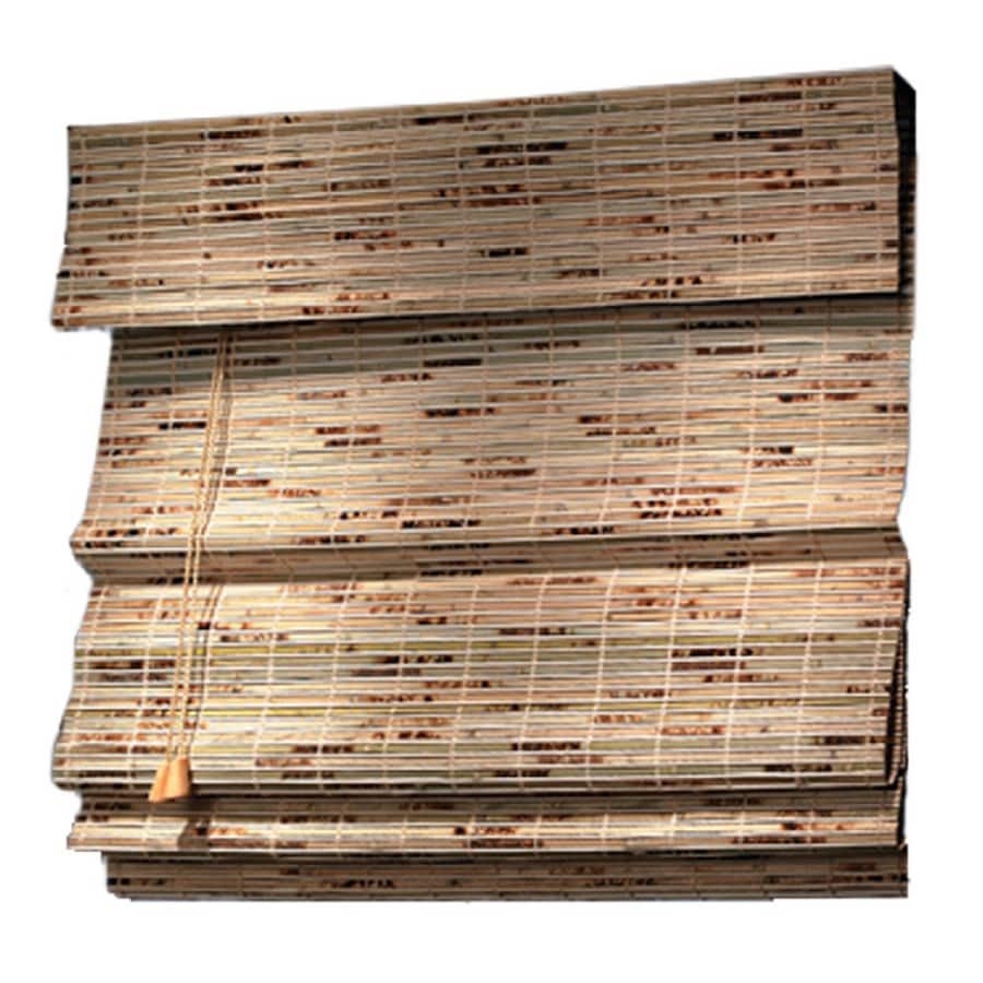 Style Selections Natural Light Filtering Bamboo Natural Roman Shade (Common 27-in; Actual: 26.5-in x 72-in)