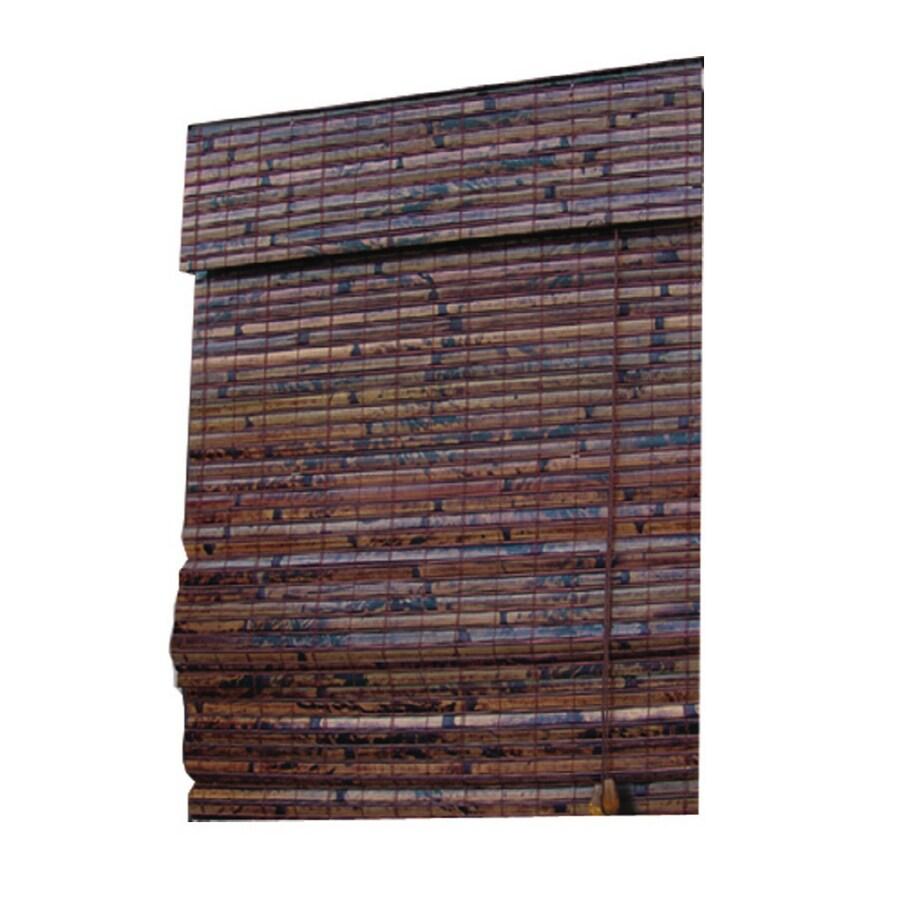 Shop Style Selections Mahogany Light Filtering Bamboo Natural Roman