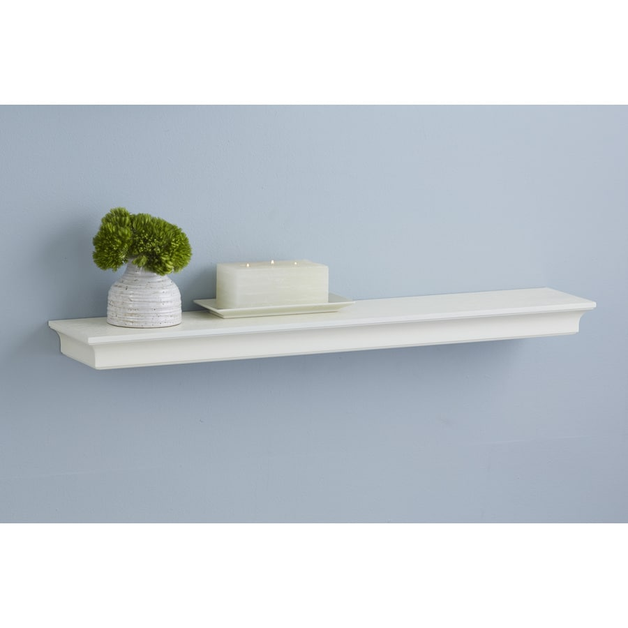 Shop allen + roth 30-in W x 2.64-in H x 8-in D Wall Mounted Shelving ...