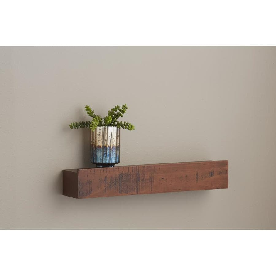 Design Wood Shelves For Walls shop wall mounted shelving at lowes com allen roth 24 in w x 4 5 h 3 88 in