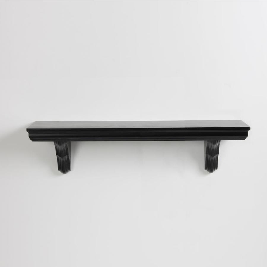 inPlace 35.4-in W x 7.5-in H x 7.7-in D Wood Wall Mounted Shelving