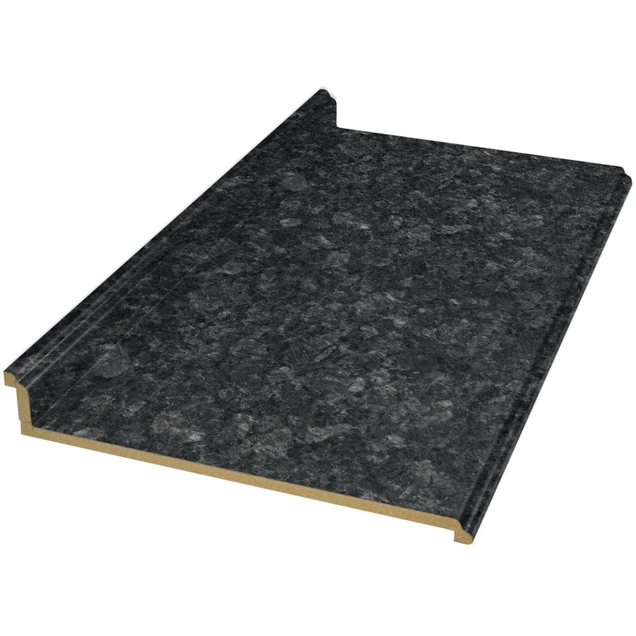 Shop Vt Dimensions Formica 4 Ft Midnight Stone Etchings Straight Laminate Kitchen Countertop At