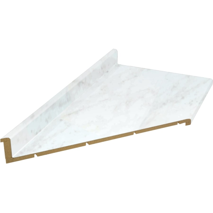 Belanger Fine Laminate Countertops 6 Ft White Carrara Miter Cut Laminate Kitchen Countertop