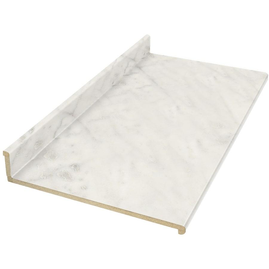 Formica 8 Ft Carrara Bianco Straight